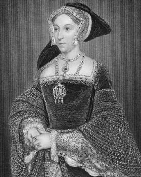 Portrait of Jane Seymour (c.1509-37) from 'Lodge's British Portraits', 1823 (engraving) 17th