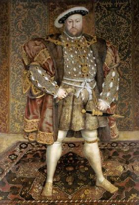 Portrait of Henry VIII (1491-1547) in a Jewelled Chain and Fur Robes