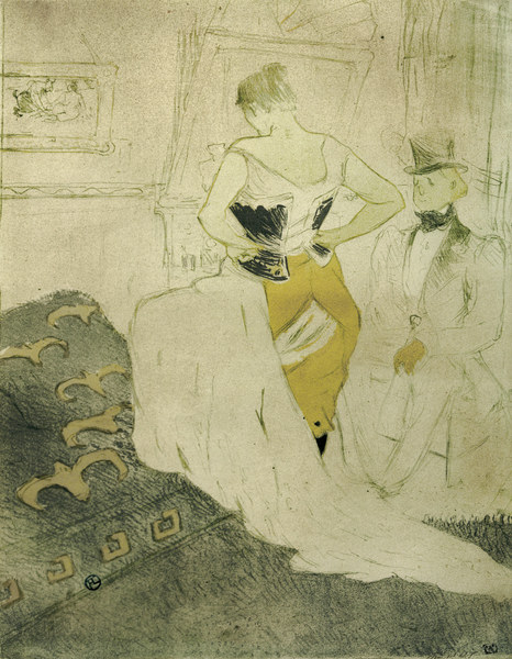 femme en corset henri de toulouse lautrec als kunstdruck oder handgemaltes gem lde. Black Bedroom Furniture Sets. Home Design Ideas