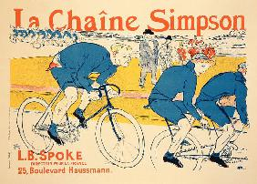 Reproduction of a poster advertising 'The Simpson Chain', Paris 1896