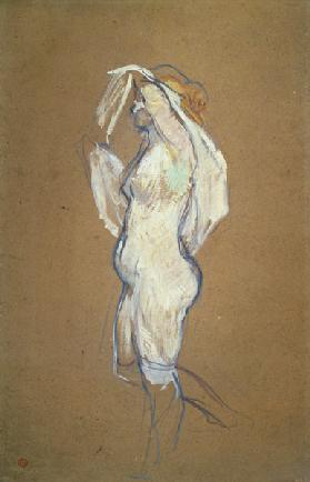 Woman Lifting her Shirt 1896