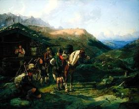 Departure from the Alpine Pasture 1832