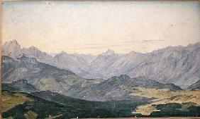 Mountain Valley in Oberbayern 1829