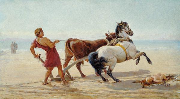Ulysses Ploughing the Sea Shore 1874