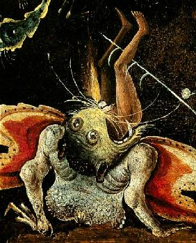 The Last Judgement, detail of a man being eaten by a monster c.1504