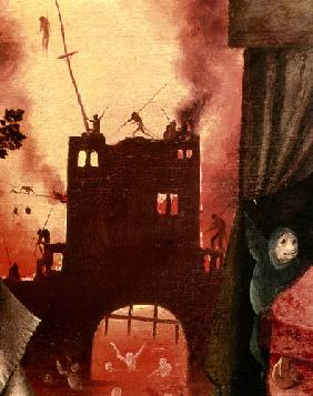 Tondal's Vision, detail of the burning gateway