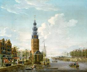 View of Amsterdam with the Montelbaanstower on the Oude Schans 1777