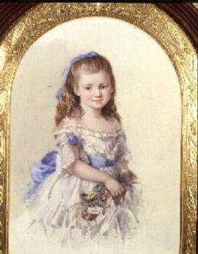Portrait of Winifred Mary Bombass, aged ten 1872
