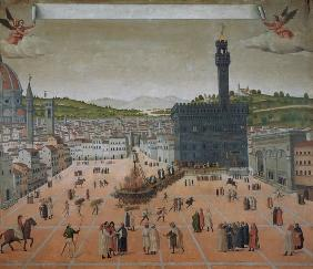 Savonarola Being Burnt at the Stake, Piazza della Signoria, Florence 16th