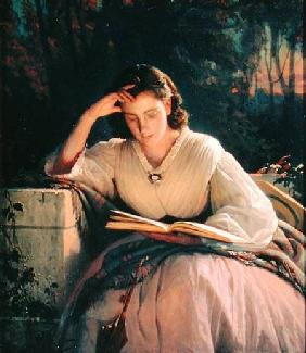 Reading (portrait of the artist's wife) 1863