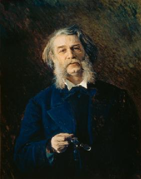 Portrait of Dmitri Vasilievich Grigorovich (1822-99) 1876