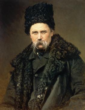 Portrait of the Ukranian Author Taras Grigorievich Shevchenko (1814-61) 1871