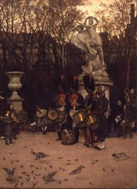 Beating the Retreat in the Tuileries Gardens 1867