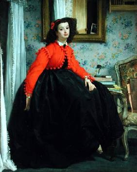 Portrait of Mlle. L.L. (Young Lady in a Red Jacket)
