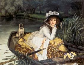 Young Woman in a Boat, or Reflections c.1870