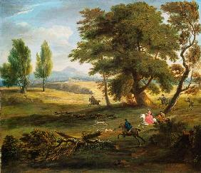 Hunting Party in an Extensive Landscape