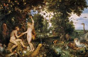 Adam and Eve in Paradise c.1610-15