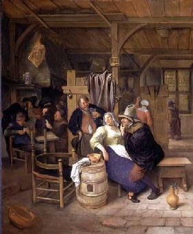 A Tavern Interior with Card Players