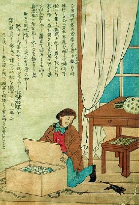 JJ Audubon (1785-1851) on a trip to Japan disovers a rat, c.1840