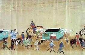 Part of the Sixth Korean Embassy to Japan in Meireki 1 at the time of Tokugawa Ietsuna's succession 1655-57