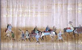 Sixth Korean Embassy to Japan in Meireki 1 at the time of Tokugawa Ietsuna's succession in 1651 poss