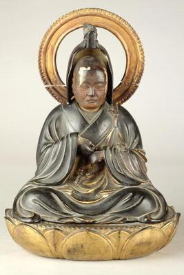 Buddhist abbot (lacquered wood) 18th