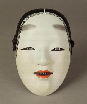 Noh theatre mask of a young woman, Japanese