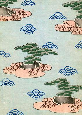 Woodblock Print of Trees on Islands 1882