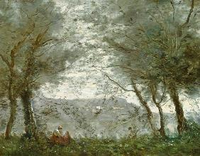 The Pond at Ville-d'Avray through the Trees 1871