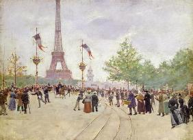 Entrance to the Exposition Universelle, 1889 (oil on canvas) 07th-