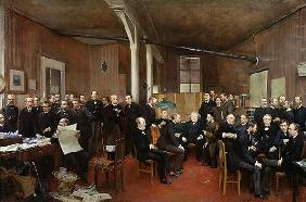 Le Journal des Debats, 1889 (oil on canvas) 04th