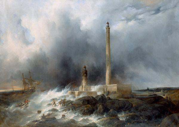 View of the Lighthouse at Gatteville