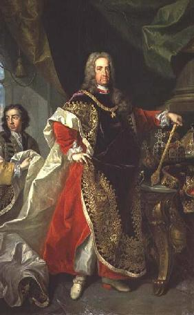 Charles VI (1685-1740), Holy Roman Emperor wearing the robes of the Order of the Golden Fleece