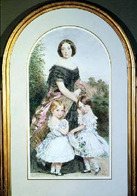Portrait of a lady with her two daughters