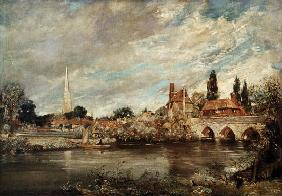 The Bridge of Harnham and Salisbury Cathedral c.1820