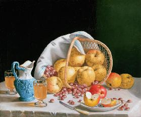 Still Life with Yellow Apples 1858