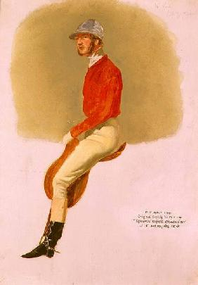 Portrait sketch of P.P. Rolt Esq. for 'Steeple Chase Cracks' 1846