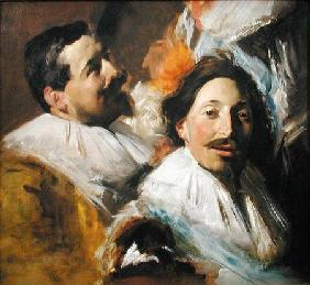 Two Heads from the Banquet of the Officers 1880
