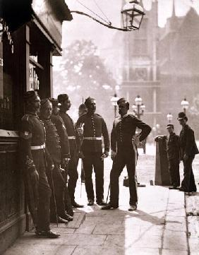 Recruiting Sergeants at Westminster, 1876-77 (woodburytype)