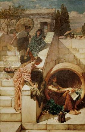 Diogenes / Painting by J.W.Waterhouse