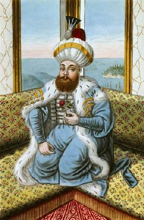 Mehmed II (1432-81) called 'Fatih', the Conqueror, from 'A Series of Portraits of the Emperors of Tu 1808  on