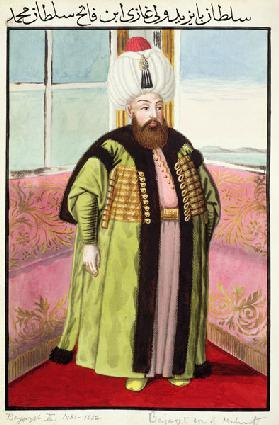Bajazet (Bayezid) II (c.1447-1512) called 'Adli', the Just, Sultan 1481-1512, from 'A Series of Port 1808