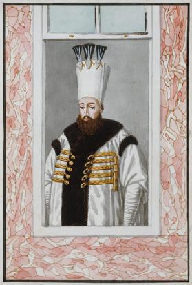 Ahmed III (1673-1736) Sultan 1703-30, from 'A Series of Portraits of the Emperors of Turkey' 1808