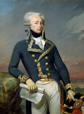 Portrait of Gilbert Motier (1757-1834) the Marquis de La Fayette as a Lieutenant General 1791