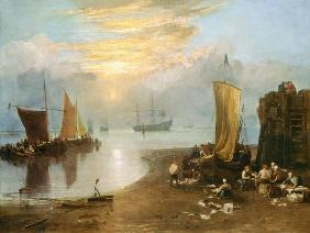 Sun Rising Through Vapour: Fishermen Cleaning and Selling Fish c.1807