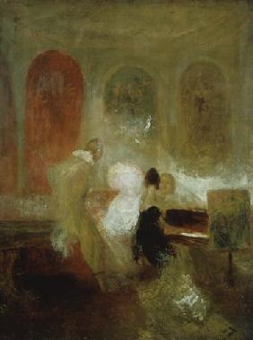 Musik in East Cowes Castle um 1830