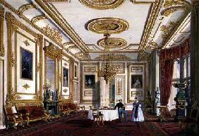 The White Drawing Room at Windsor Castle (colour litho)