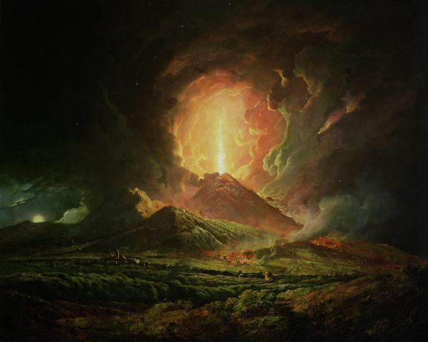 An Eruption of Vesuvius, seen from Portici c.1774-6