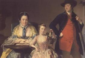 James and Mary Shuttleworth with one of their Daughters 1764