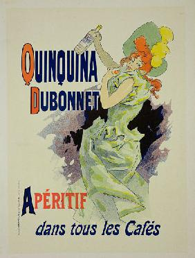 Reproduction of a poster advertising 'Quinquina Dubonnet' 1895